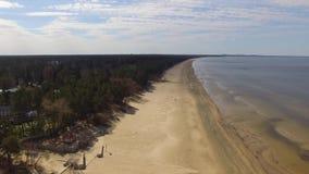 Baltic Sea coast in Narva Estonia stock video footage