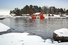 Baltic sea coast near Karlshamn in winter. Sweden Royalty Free Stock Image