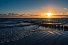 Baltic Sea Coast On The Island Moen In Denmark Royalty Free Stock Image