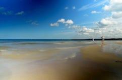 Baltic sea coast. A sandy beach on the coast of the Baltic Sea Stock Photography