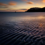 The Baltic Sea coast in Sassnitz, Ruegen, Northern Germany. Royalty Free Stock Images