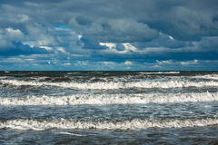Baltic Sea coast on a stormy day Royalty Free Stock Image