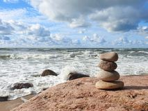 Baltic sea coast sunny day, Lithuania royalty free stock images