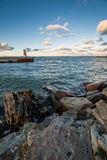 Baltic sea coast. In Tallinn near Linnahall Royalty Free Stock Image