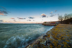 Baltic sea coast. In Tallinn near Linnahall Royalty Free Stock Images