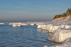 Baltic sea coast in winter Royalty Free Stock Photo