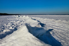 Baltic sea coast  in winter. Royalty Free Stock Photo