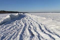 Baltic sea coast  in winter. Royalty Free Stock Photos