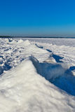 Baltic sea coast  in winter. Royalty Free Stock Images