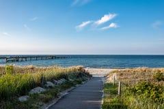 Baltic Sea Coast With Pier In Goehren, Germany Stock Images