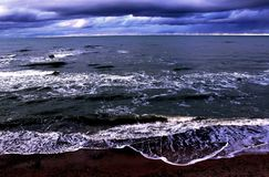 Baltic sea coastline. Baltic sea is leaving its marks on the coastline Stock Images