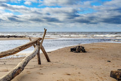 Baltic sea coastline near Saulkrasti town, Latvia Stock Photos