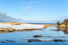 Baltic sea coastline near Saulkrasti town, Latvia Stock Image