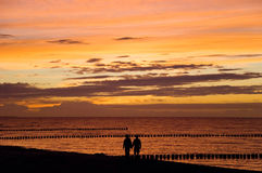Baltic sea couple Stock Image