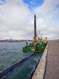 Baltic sea, Dredge in the harbor Royalty Free Stock Photo