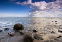 Baltic sea and dynamic sky Royalty Free Stock Images