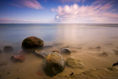 Baltic sea and dynamic sky Royalty Free Stock Photography