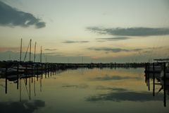 Baltic Sea in the Evening Stock Photography