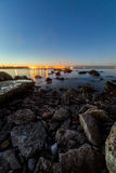 Baltic sea in evening. Baltic sea coast in Tallinn Royalty Free Stock Images
