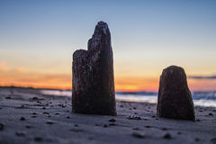 Baltic Sea. Evening on shore of the Baltic Sea Stock Photography