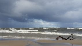 Baltic Sea in fall time royalty free stock photography