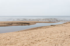 Baltic Sea and foggy morning Royalty Free Stock Photo