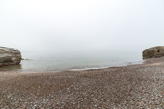 Baltic Sea and foggy morning Stock Images