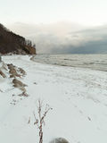 Baltic sea Gdynia, cliff in Orlowo Poland. Winter scenery Stock Photos