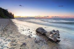 Baltic sea in Gdynia Orlowo at sunrise Stock Photos
