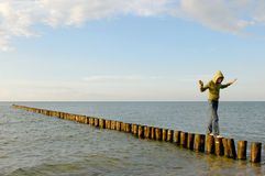 Baltic-sea in Germany - Zingst Royalty Free Stock Photo