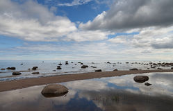 Baltic sea. Grey clouds above Baltic sea Stock Photography