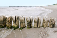 Baltic sea groins Royalty Free Stock Photos