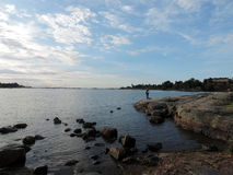 The Baltic sea in Helsinki. Finland Stock Photos