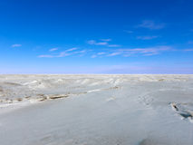 Baltic Sea ice, sky and clouds Royalty Free Stock Photography