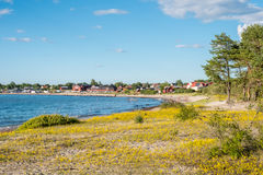 Baltic sea island Oland in Sweden Stock Images