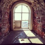 Baltic sea isle window Royalty Free Stock Photography