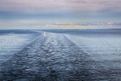 Baltic sea. Landscape with a little yacht Royalty Free Stock Image