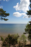 Baltic Sea, Latvia. View of the Baltic Sea coast from hill royalty free stock photography