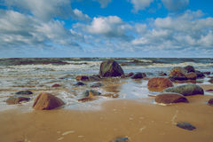 Baltic sea in Latvia. 2016 royalty free stock image