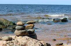 Baltic Sea, Latvia. Beautiful views of the beach and the Baltic sea stock photography