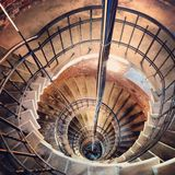 Baltic sea lighthouse stairs. Bengtskar is a lighthouse in Baltic sea, Finland Royalty Free Stock Photos