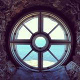 Baltic sea lighthouse window Stock Photo