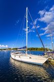 Baltic sea marina with yachts. In the summer, Sweden Royalty Free Stock Images