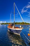 Baltic sea marina with yachts. In the summer, Sweden Stock Image