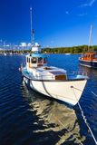Baltic sea marina with yachts. In the summer, Sweden Stock Photos