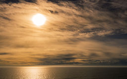 Baltic Sea. Morning on Baltic Sea near the southern coast of Finland Royalty Free Stock Images