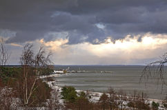 Baltic sea in Nida. Curonian Spit. Lithuania Royalty Free Stock Photos