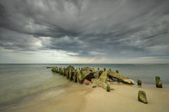 Baltic Sea, Niechorze, Poland - long exposure time Royalty Free Stock Image