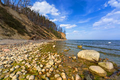 Baltic Sea at the Orlowo cliff Royalty Free Stock Images