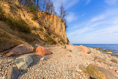 Baltic Sea at the Orlowo cliff Royalty Free Stock Photos